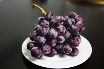 Cold Grapes on a plate