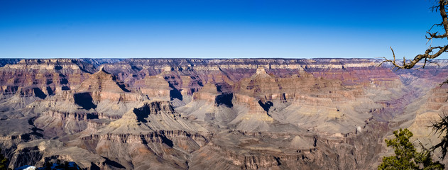 Gran Canyon panorama taken from mother point on south rim