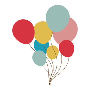 party balloons icon image vector illustration design