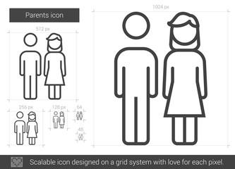 Parents line icon.