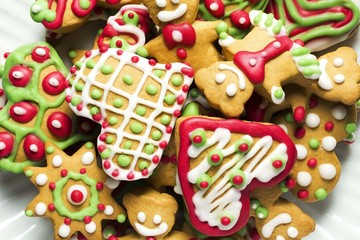 christmas cookies  background , christmas decoration , photo jpeg