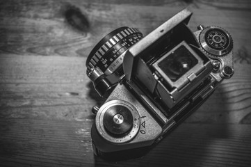 Kamera schwarzweiß