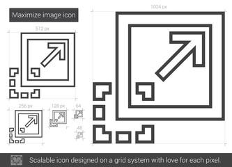 Maximize image line icon.
