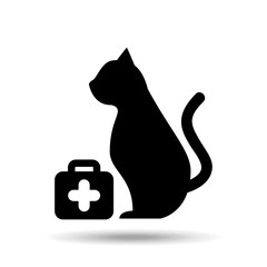 veterinary care pet symbol vector illustration eps 10