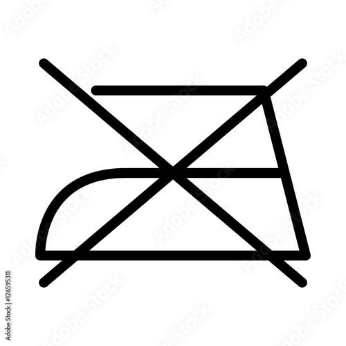 Do Not Iron Over White Backgroundwashing Symbols Design Vector