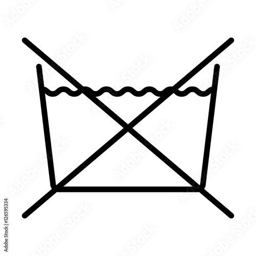 Do Not Wash Over White Backgroundwashing Symbols Design Vector
