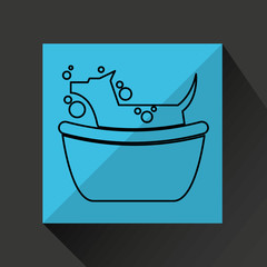 dog shower house icon vector illustration eps 10