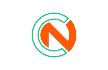 logo letter c, n, cn, nc