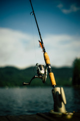 Fishing rod near water