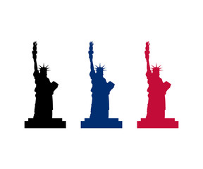 Circle American Statue Liberty Monument New york Identity