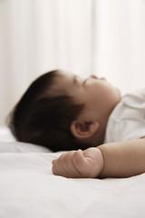 profile of sleeping baby