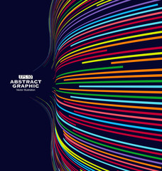Abstract graphics, Technological sense vector illustration.