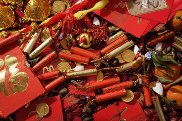 Various of Chinese New Year ornaments