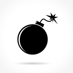 bomb icon on white background