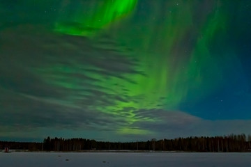 Aurora Borealis On The Spring Sky