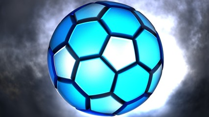 Soccer ball. 3D illustration. 3D CG. High resolution.