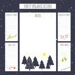 Christmas party organization
