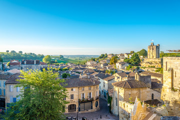Morning view at the Saint Emilion - France