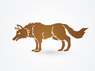 Wolf standing graphic vector