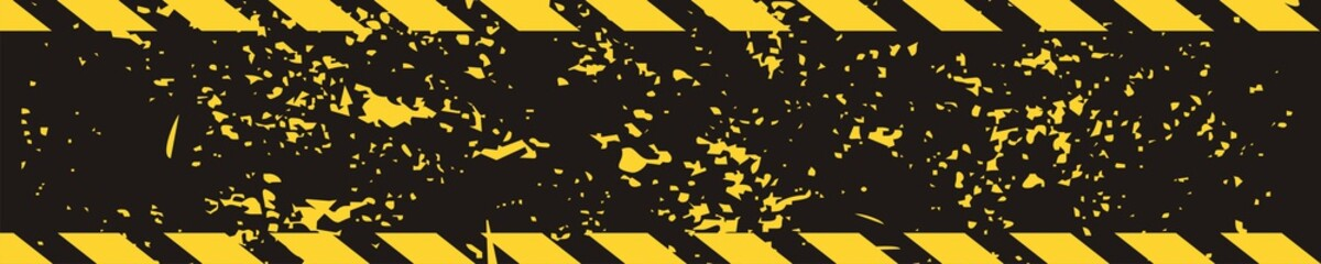 Black yellow road sign rectangular background Diagonal stripes Texture grunge Grunge construction sign for your text Automobile horizontal Banners Road Pattern Car Service Under Construction banner