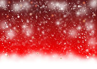 Winterlicher Hintergrund mit glitzernden Sternen und Schneeflocken
