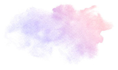 Abstract purple watercolor on white background.This is watercolor splash.It is drawn by hand. Wall mural
