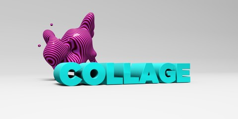 COLLAGE - 3D rendered colorful headline illustration.  Can be used for an online banner ad or a print postcard.