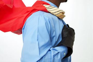 African American Superhero Businessman