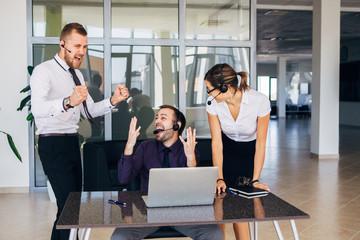 call center operators happy their success