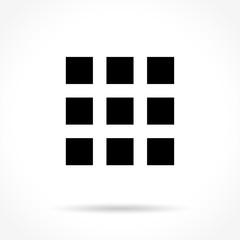 squares icon on white background