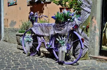 yaratıcı fikirle mor bisiklet