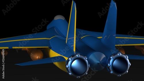 Jet Fighter Plane  3D illustration  3D CG  High resolution