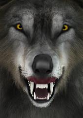 3D Rendering Wolf