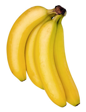 Bananas Top Isolated with Path