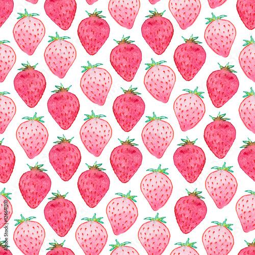 Seamless Watercolor Strawberry Pattern Stock Photo And Royaltyfree Interesting Strawberry Pattern