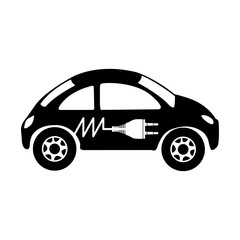 electric car icon image vector illustration design
