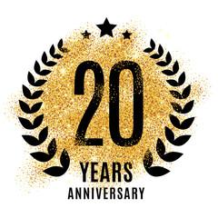 Twenties years gold anniversary.