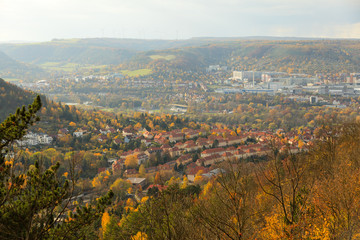 Blick auf Jena an der Saale, Thüringen, Deutschland