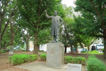 上野公園・野口英世の銅像