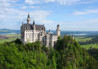 Picturesque landscape with Neuschwanstein Castle. Germany
