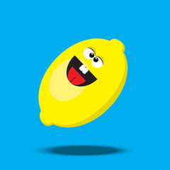 cartoon lemon character