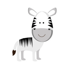 zebra cartoon animal icon image vector illustration design
