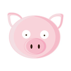 pig cartoon animal icon image vector illustration design
