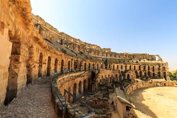 El Jem amphitheater in Tunisia