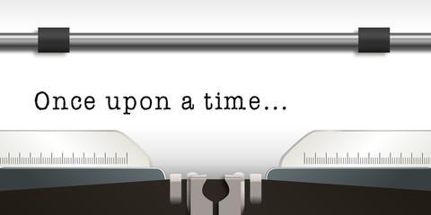 Machine à écrire - écrivain - Once upon a time