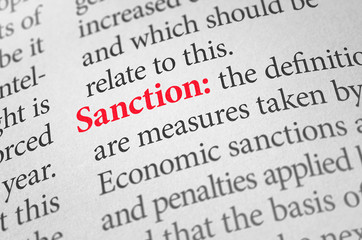 Definition of the word Sanction in a dictionary