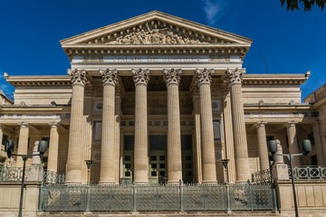 Court house, or Palais de Justice (1846). Nimes, France.