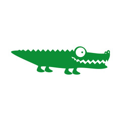 crocodile or alligator animal cartoon icon image vector illustration design