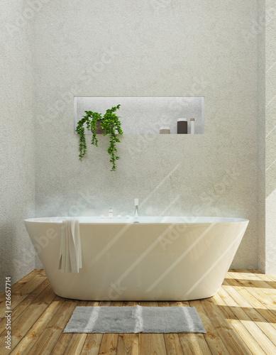 Vasca da bagno moderna luminoso\