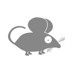 mouse animal cartoon icon image vector illustration design